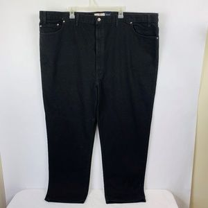 Levi's 540 Relaxed Fit Black Jeans Men Size 52x34